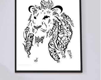 Modern Arabic Calligraphy Art And Home Decor By