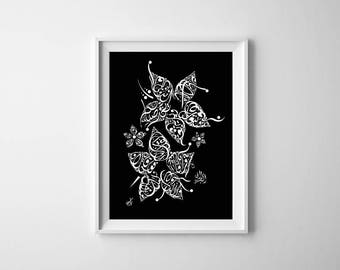 Arabic Calligraphy Print - Khalil Gibran Poetry - Arabic Calligraphy Flower - Poetry on Friendship - Arabic Poetry