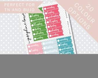 WEEKLY DAY FLAGS - Functional Stickers - Planner Stickers Matt
