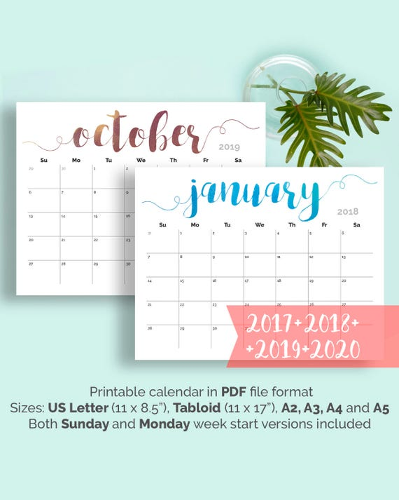 calendar printable wall desk pdf calender monthly create instant
