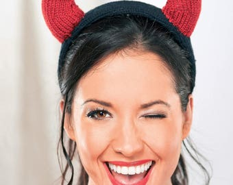 Devil Horns, Halloween costume, Devil Horns Headband, Devil Horns Headpiece, Devil Ears Hairband, Halloween Hairband, Fancy dress costume