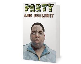Biggie Smalls Card (Notorious B.I.G., Birthday Card, Rapper Card, hip hop, Notorious BIG, Tupac, Drake, Kanye West, NWA, Wu Tang Clan)