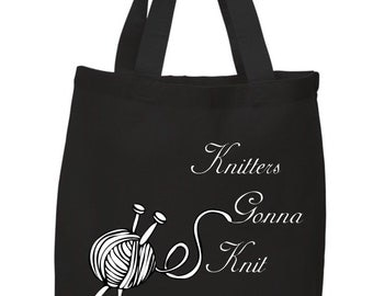Knitters Gonna Knit Tote Bag/Purse