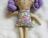 Sweet Treats SweetHeart Purple Hair Girl Doll Plushie. Gifts for Girls. Great for Easter Basket and Birthday Dolls! Design Your Own Plushie!