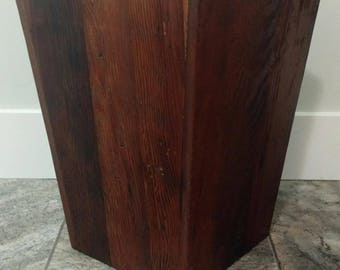 Wood Wastebasket/Umbrella Stand