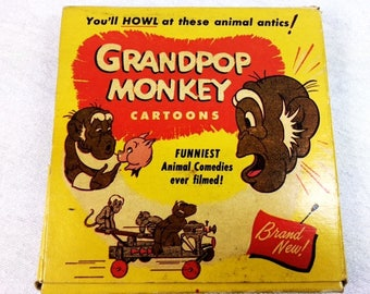 Grandpop Monkey 8mm Film - Super 8 Film - Lawson Wood Cartoon - VERY RARE