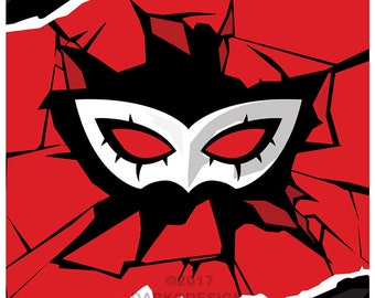 Persona 5 – Phantom Thieves Critical Hit signed video game wall art poster / fine art print