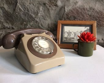 Rotary Telephone, Retro Telephone, Vintage Telephone, 1970s Decor, 70s Decor, Retro Home Decor, Old Telephone, BT Telephone.