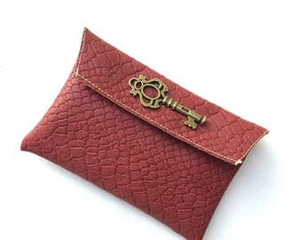 Oxblood Leather Coin Purse / Cardholder / Wallet