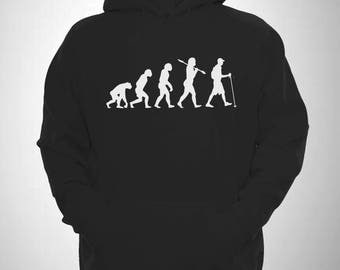Hiking Hoody Evolution of Man Walk Hike Hooded Sweatshirt