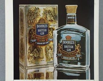 "1981 Boodles British Gin Print Ad - ""The world's costliest British gin"""
