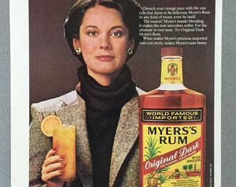 1980, 1981 Lot of 2 Myers's Rum Print Ads