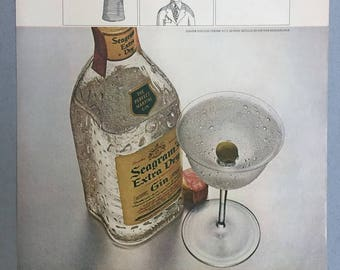 1967 Seagram's Extra Dry Gin Print Ad - Martini