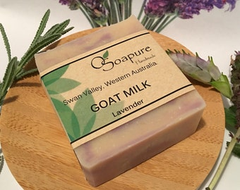 Goat Milk and Lavender Cold Process Handmade Soap