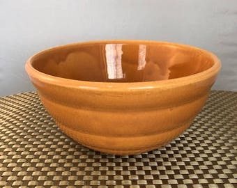 Vintage Bauer Pottery La Linda Mixing Bowls - Orange #18