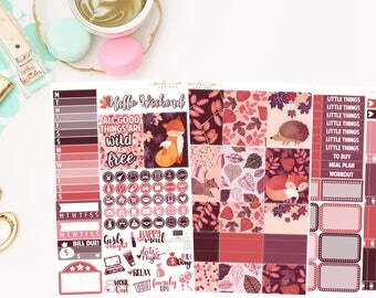 Wild and Free Mini Kit, planner stickers
