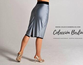 CLARA reversible silver tango skirt, XS and M