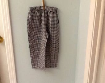 4T Black and White Checked Pants