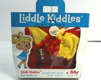 """Vintage Totsy """"Liddle Kiddles"""" Doll Play Outfit MIB- Mattel 1966"""
