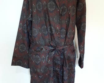 Vintage mens robe 60s Tootle paisley print mens dressing gown robe size large