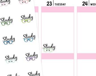Kawaii Study Planner Stickers, Study Stickers, School Stickers, Script Stickers, Calligraphy Stickers, Kawaii Stickers