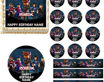 Roblox Edible Cake Topper Image Frosting Sheet, Roblox Cake, Roblox Cupcakes, Roblox Party Supplies, Roblox Birthday, Edible Party Images