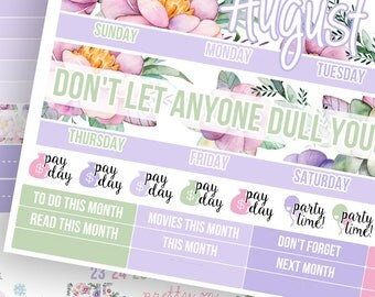 Unicorn Daydream Monthly Kit (CHOOSE YOUR MONTH!)- Planner Stickers