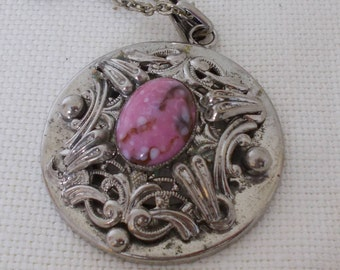 Pewter and Pink Pendant