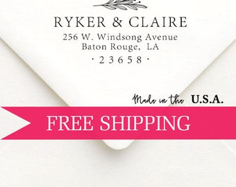 Custom Return Address Stamp-Self Inking-Personalized Stamp-Housewarming Gift-Client Gift-Wedding Stamp
