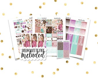 BOHO GLAM Weekly Kit // Printable Planner Stickers / Erin Condren Plum Paper Happy Planner Filofax Inkwell Press Thanksgiving Fall Autumn