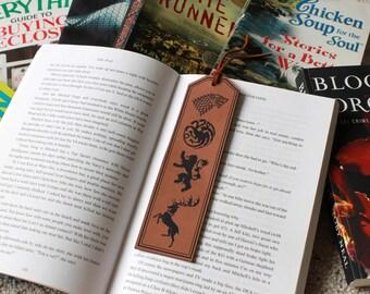 Game Of Thrones Bookmark, GOT Bookmark, Game Of Thrones Gifts, Personalized Bookmark Custom Bookmark Leather Bookmark --FXBM-RH-Got