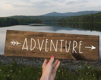 Adventure - Wood Sign