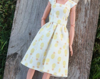 Yellow Pineapple Summer~Barbie Clothes, Barbie Dress, Doll clothes, 11.5 inch doll clothes