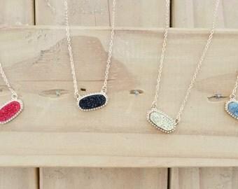 Druzy stone jewelry Etsy
