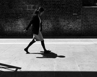 Black And White, Black White Photo, Black&White Street Photography, Woman Walking, Women Walking, Black N White Photo, Black And White Photo