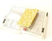 Passport holder, passport cover, yellow, flowers, traveler gift, fabric passport case, travel accessory, traveler gift, mother's day gift