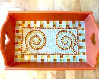 Spiral Jetty Mosaic Art Tray