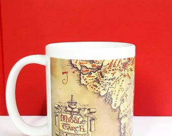 Lord of the Rings - Middle Earth Map Mug