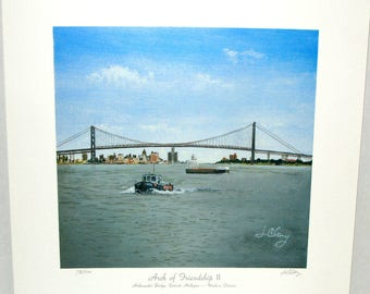 ARCH of FRIENDSHIP II Maritime Art Print by Jim Clary Limited Edition Signed & numbered 338/1000 Ontario