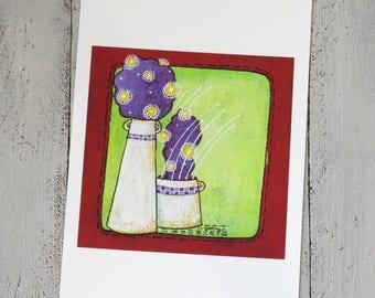 """giclée print """"cactus in fiore"""""""