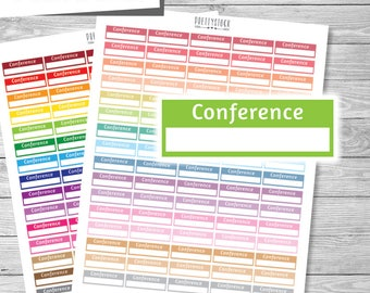 Conference Stickers, Printable Conference Stickers, Conference Planner Stickers, Conference Box Stickers, Appointment Stickers - PS218