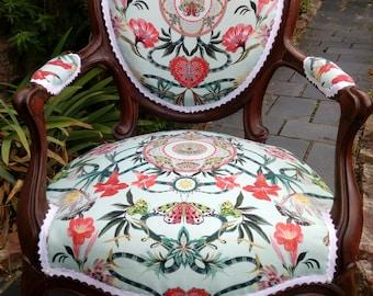 Chair Louis Philippe Medallion fabric Osborne