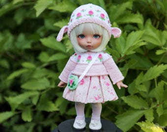 Sheep outfit for 1/8 BJD dolls pukifee, lati yellow, Irrealdoll