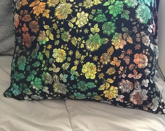 Hand Dyed flower pillow