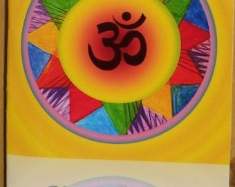 Mandala Card - Strengthening Self-Confidence, Balancing The Solar Plexus Chakra - Print A6, Energy Art, Spiritual Art by Eva Maria Hunt