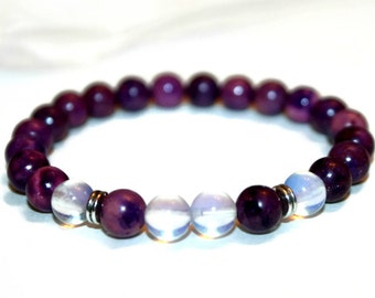 Sugilite Bracelet Purple Bracelet for Women Bracelet Healing Jewelry Gift for Women Healing Crystal Jewelry for Her Healing Crystal Bracelet
