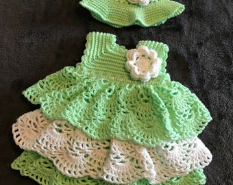 Baby Dress with Matching Hat