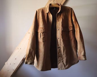 Shirt, unisex, lined Jacket Skirt Vintage leather suede leather jacket