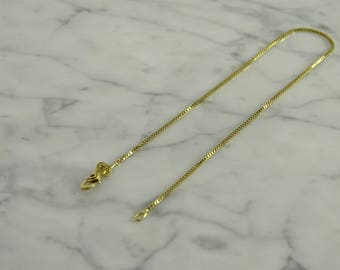 14K Yellow Gold Anklet (9 inches)