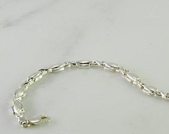 """Very Fine Sterling Bracelet 7"""""""